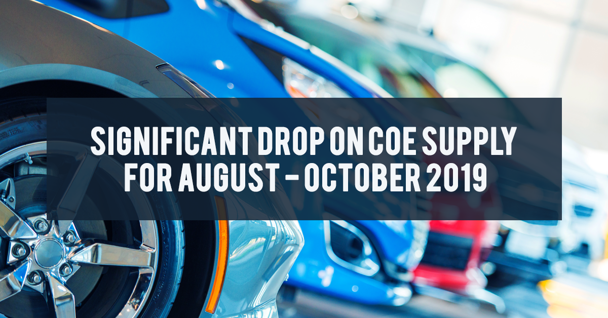 COE Supply August - October 2019 Quota Period