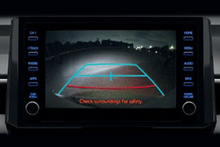 Reversing Camera with Fixed Guidelines