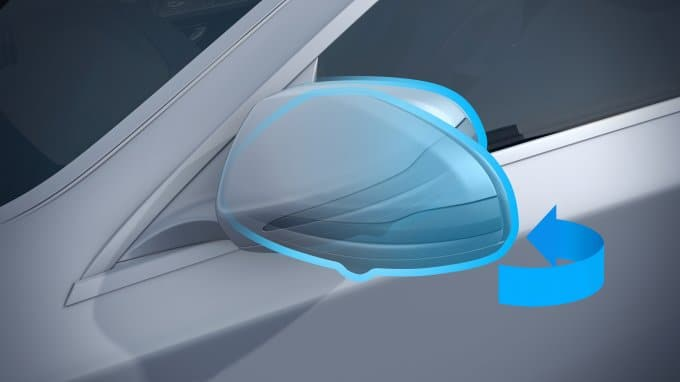 Mirror Package Including Electrically-Folding Exterior Mirrors